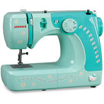 Janome Hello Kitty 11702 1/2-Size Free-arm Sewing Machine – Blue