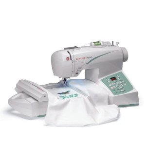 Image of Singer Futura CE-250 Computerized Sewing and Embroidery Machine with 2 Hoop Sizes, 100 Sitches, 120 Embroidery Designs, 5 Monogramming Fonts
