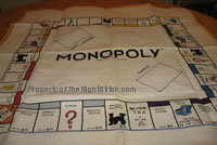 Cross-Stitched Monopoly Game