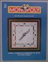 Monopoly Gameboard to Scale Book Charted for Counted Cross Stitch (Paperback)