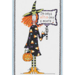 Janlynn Dolly Mamas Witch Counted Cross Stitch Kit  # 10620458