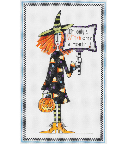 Witch Counted Cross Stitch Kit-6''X 10''